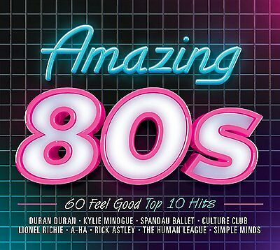 AMAZING 80'S  3 CD SET VARIOUS ARTISTS (New Release 2017) FREE UK P&P