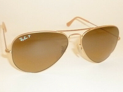 98aa9d69d5 New RAY BAN Aviator Sunglasses Gold RB 3025 112 M2 Polarized Brown Gradient  58mm