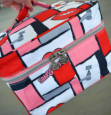 Soap & Glory LIPS Large Weekend Case Toiletry Cosmetics Makeup Beauty Bag - NEW