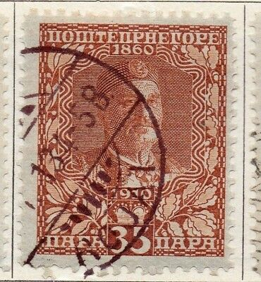 Montenegro 1910 Early Issue Fine Used 35pa. 147332
