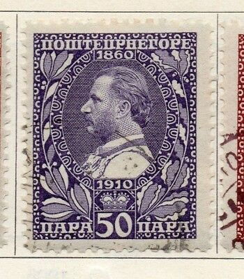 Montenegro 1910 Early Issue Fine Used 50pa. 147333