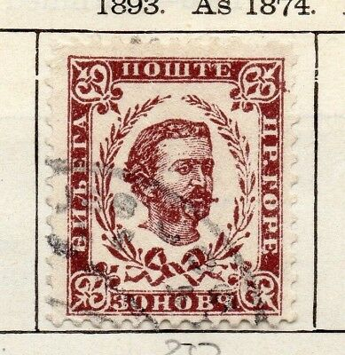 Montenegro 1893 Early Issue Fine Used 30n. 147341