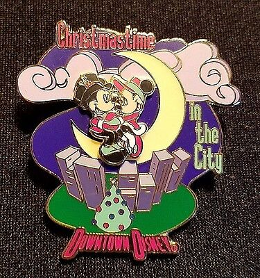 Rare 2001 Disney Wdw Christmastime In The City Event Mickey & Minnie Pin Le 1500