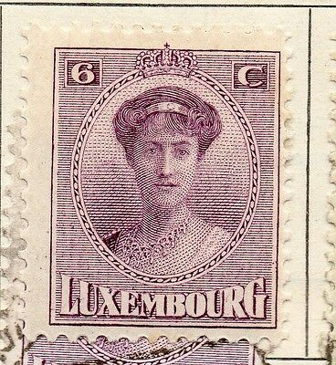 Luxembourg 1921 Early Issue Fine Mint Hinged 6c. 147010