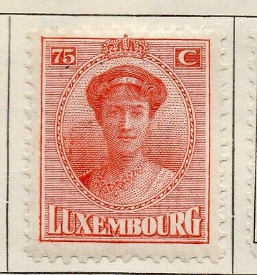 Luxembourg 1921 Early Issue Fine Mint Hinged 75c. 147019