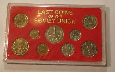 "1967 USSR 9 pc COIN UNC SET ""LAST COINS OF THE SOVIET UNION"" - SCARCE"