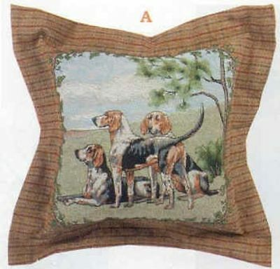 Decorative Pillow FOXHOUNDS Foxhunt Tapestry X-LARGE Pillow CLEARANCE