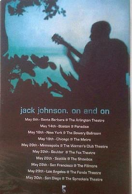 Jack Johnson On And On Cd Promo Concert Poster 2003