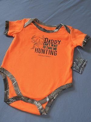 NEW RealTree One Piece INFANT Baby Camo Creeper Romper Hunting Outfit Snapsuit