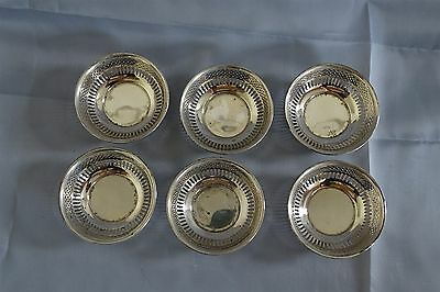 Whiting 6 Sterling Silver Pierced Nut Cups