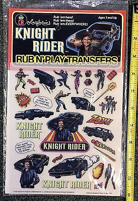 1982 *night Rider* Rub-N-Play Color-Forms Transfers Sealed In Pkg. Original Mint