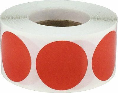 Red Color Coding Labels Round Circle Dots 1 Inch 500 Total Adhesive Stickers