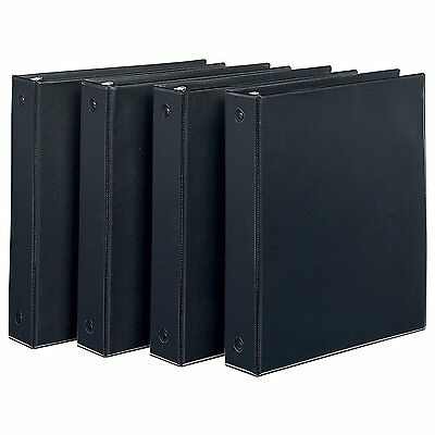 Avery Economy View Binder with 1.5-Inch Round Ring, Black, Pack Of 4 19204