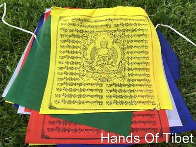 Large Medicine Buddha Tibetan Prayer Flags From Nepal Set of 25 Flags