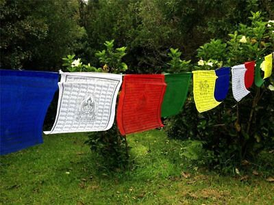 Large Tibetan Prayer flags Wind Horse Green Tara Buddha of Compassion 10 flags