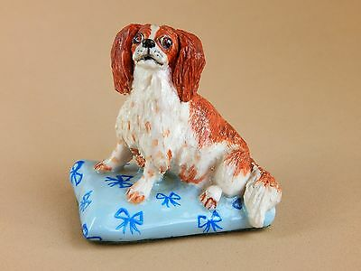 Basil Mathews Studio Hand Crafted Dog Figurine - King Charles Spaniel Dog