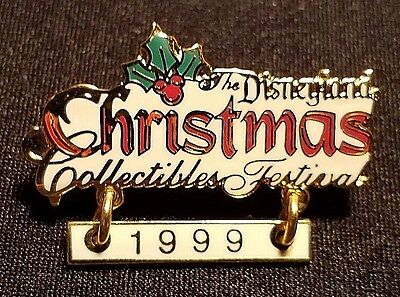 Retired 1999 The Disneyland Christmas Collectibles Festival Dangle Pin