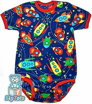 *BIG TOTS*by MsL SPACE Rockets Fleece bodysuit Adult Baby