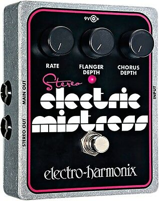 Electro-Harmonix XO Stereo Electric Mistress Flanger Chorus Guitar Effects Pedal
