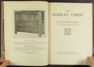 Hadley Chest - Classic Antique American Furniture Book by Luther - 1935 Edition