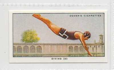 #37 diving (d) the plain header flight swimming r card