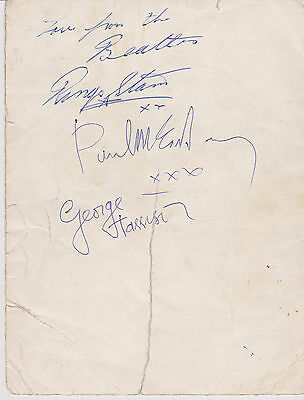 Rare Original Authentic Beatles Autographs Starpic 1963 Starr Mccartney Harrison
