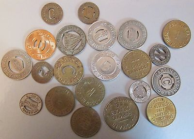 Group of (20) Different Transit & Parking Tokens #2