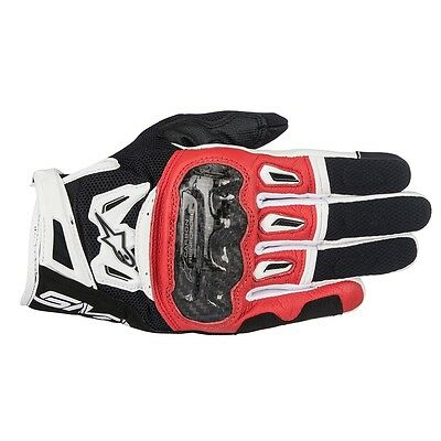 Alpinestars Men SMX-2 AIR CARBON V2 Red Short SUMMER Motorcycle Gloves