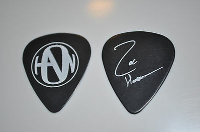 Zac Hanson BLACK with WHITE LOGO guitar pick!