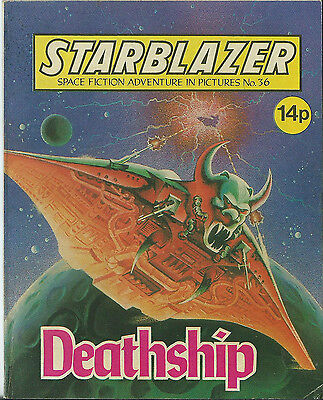 Deathship,starblazer Space Fiction Adventure In Pictures,no.36,1980