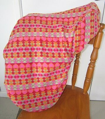 Horse Saddle cover Geometric design  FREE EMBROIDERY Australian Made Protection
