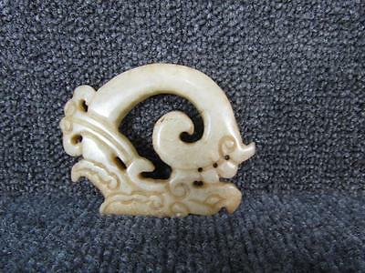 Antique Chinese Carved Hardstone Necklace Amulet