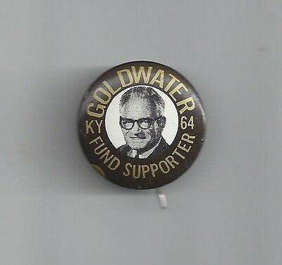 Tough 1964 Goldwater Kentucky Fund Supporter Picture Campaign Button
