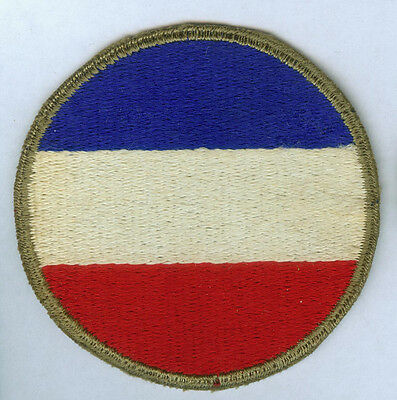 Ww2 Us Army Ground Forces Command Cut Edge Green Back Ssi Patch Wwii