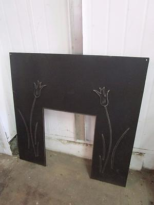 D11060 Lovely Cast Iron Floral Embossed Fireplace Mantle Insert