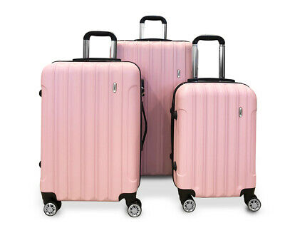 TODO ULTRA LIGHT LUGGAGE SET 3pcs HARD SHELL COMBINATION LOCKS PINK