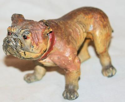 WONDERFUL Antique Cast Lead or Spelter Metal Iron English Bulldog Paperweight 4""