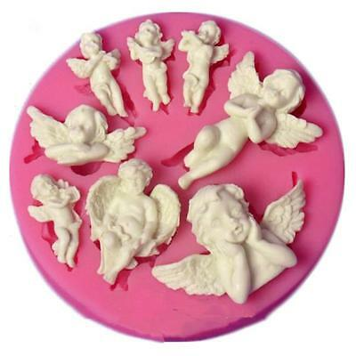 DIY Cupcake Moulds Silicone Angel Baby Mold Fondant Chocolate Cake Cookie Tool