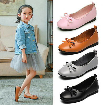 2017 Children New Kids Girls Ballerina Flat Princess Party Shoes Casual Slip-On