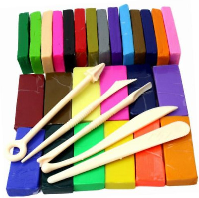 650g 350G 26/32 ColourS Oven Bake Polymer Clay Block Moulding Sculpey set W/Tool