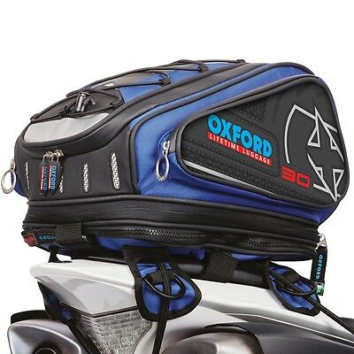 Oxford X30 Luggage Tail Pack Motorcycle Motorbike Tailpack Blue 30Ltr