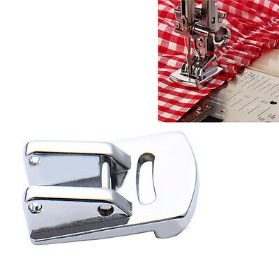 Stainless Steel Electric Sewing Machine Presser Foot Double Gathering Foot