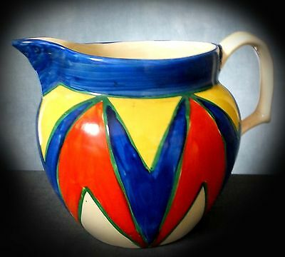 Superb, Rare Clarice Cliff Geometric Designed ' Original Bizarre ' Art Deco Ewer