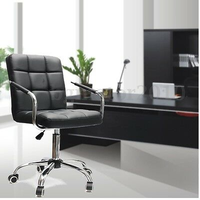 Adjustable Ergonomic PU Leather High Swivel Executive Computer Office Desk Chair