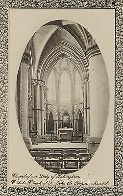 Chapel Our Lady of Walsingham St John the Baptist NORWICH RP TUCK Postcard F082