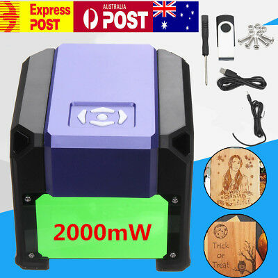 2000MW DIY Laser Engraving CNC Carving Engraver Carved Printer Machine+USB Disk