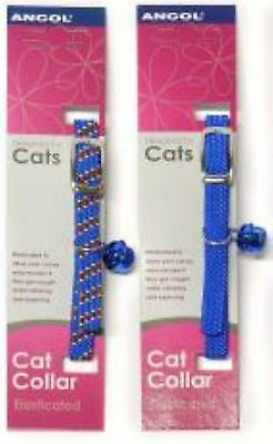 Reflective all-elastic Cat Collar Blue Pack Of 1