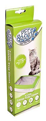 Pet Brands Cat Litter Tray Liners Pack of 8
