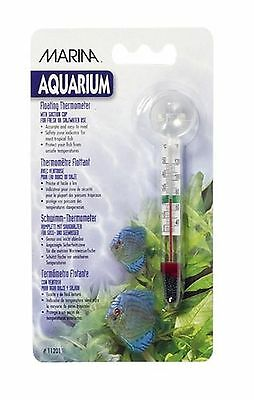 Marina Aquarium Floating Glass Thermometer with Sucker Pack Of 1