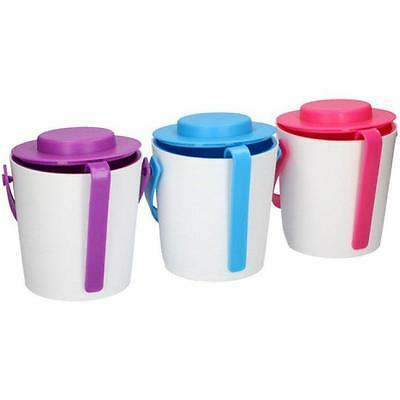 Plastic 1.2Lt Party Ice Serving Holder Bucket Cooler with Lid & Tongs